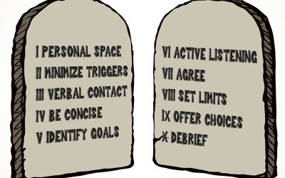 10 Commandments of De-escalation
