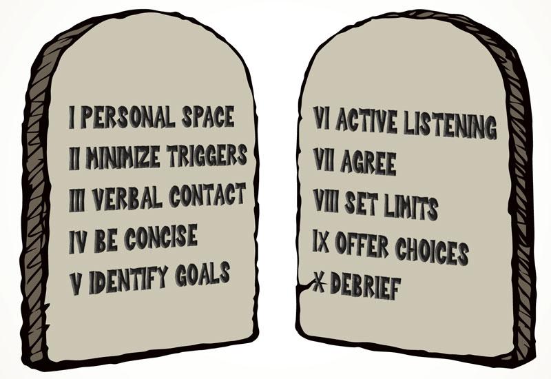 10 Commandments of De-escalation